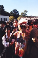 Unidentified children in Halloween costumes, one of them a Deadhead, ca. 1990s