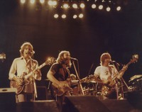 "Grateful Dead: Bob Weir, Jerry Garcia, and Phil Lesh performing ""Truckin'"""