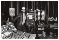 Bob Matthews, Grateful Dead sound engineer, in Le Club Front recording studio