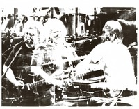 Grateful Dead, ca. 1980s: Jerry Garcia and Brent Mydland: multiple exposure