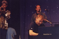Bruce Hornsby, with John D'Earth and Bobby Read in the background