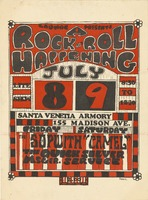 "The Sopwith ""Camel"", The Quicksilver Messenger Service - Laumac Presents A Rock n' Roll Happening - July 8-9 [1966] - Santa Venetia Armory"