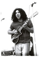 Jerry Garcia with his black 1956 Les Paul guitar