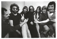 "Grateful Dead: Bill Kreutzmann, Jerry Garcia, Bob Weir, Keith Godchaux, Donna Godchaux, Phil Lesh, and Mickey Hart at Sound City during the recording and mixing of ""Terrapin Station"""