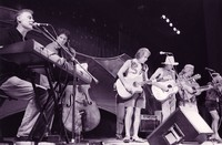 Bruce Hornsby, Rob Wasserman, Bob Weir, Mark Ford, Arlo Guthrie, and Matthew Kelly during the Acoustic Jam