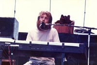 Brent Mydland, with a carved bear