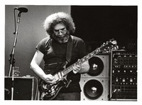 Jerry Garcia, with his guitar, Tiger