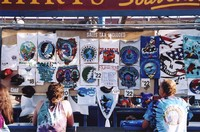 Deadhead vendor t-shirt display