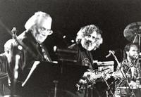 Ken Nordine, David Grisman, and Joe Craven during the San Francisco Jazz Festival