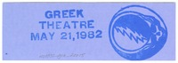 Bill Graham Presents at the Greek Theatre - May 21, 1982