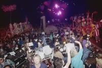 Grateful Dead, ca. 1991: sound technicians, Deadheads, and a parade