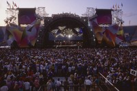 Grateful Dead at Soldier Field: distant view of the stage, and Deadheads