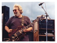 Jerry Garcia with the guitar Tiger, ca. 1989