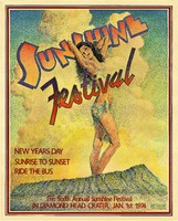 Sunshine Festival - New Years Day, Sunrise to Sunset, Ride the Bus - Sixth Annual Sunshine Festival in Diamond Head Crater, January 1, 1974