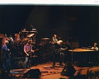 "Grateful Dead: Phil Lesh, Mickey Hart, Bob Weir, Jerry Garcia, Vince Welnick, performing ""Johnny B. Goode"""