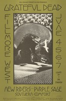 Grateful Dead, New Riders of the Purple Sage, Southern Comfort - Lights by Dr. Zarkov - Bill Graham Presents in San Francisco - Fillmore West - June 4-7, 1970