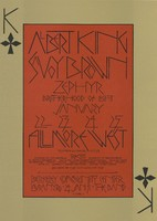Albert King, Savoy Brown, Zephyr - Lights: Brotherhood of Light - Fillmore West - January 22-25, 1970 / Laura Nyro, The Band - Berkeley Community Center - January 24-31