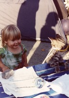 Deadhead child and cat