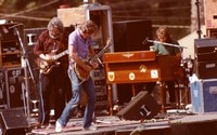Grateful Dead, ca. 1980s: Jerry Garcia, Bob Weir, and Brent Mydland