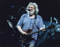 "Jerry Garcia performing ""Cold Rain and Snow"""