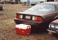 "Deadhead vehicle with ""TREKIN"" Nebraska license plate, ca. 1990"