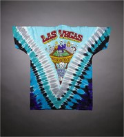 "T-shirt: ""Grateful Dead"" - skeleton roulette dealer. Back: ""Las Vegas - April 27, 28, 1991"" - skeleton gamblers"