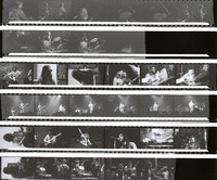 Unidentified musicians, ca. 1970s: contact sheet with 23 images