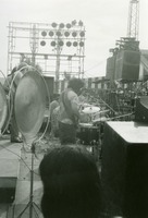 "Grateful Dead: Jerry Garcia from the back, and Ron ""Pigpen"" McKernan"