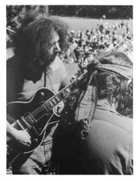 "Grateful Dead: Jerry Garcia and Ron ""Pigpen"" McKernan (back to camera)"