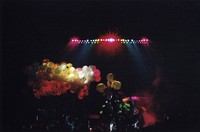 Grateful Dead at the Oakland Coliseum Arena: Mardi Gras balloons