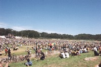 Memorial for Jerry Garcia: panoramic view of the Polo Field