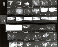 Grateful Dead and the Neville Brothers: contact sheet with 35 images