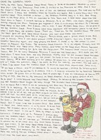 Letter with illustration of Jerry Garcia as Santa Claus