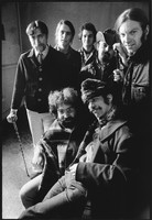 "Grateful Dead: (back) Tom Constanten, Bob Weir, Bill Kreutzmann, Ron ""Pigpen"" McKernan, Phil Lesh, (front) Jerry Garcia, Mickey Hart"