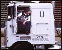 Grateful Dead Productions semi-trailer truck, driven by Paul Roehlk