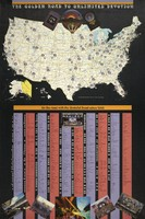 """Golden Road to Unlimited Devotion / On the Road with the Grateful Dead Since 1965. Back: """"The Original Grateful Dead Wall Map & Tour Guide / Volume 1"""""""
