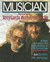 Musician (March 1991) cover:  Wait! It Can't be! It is! Jerry Garcia meets Elvis Costello