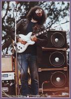 Jerry Garcia playing his Travis Bean MC1000 guitar, ca. 1975