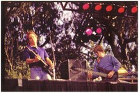Bill Graham Memorial (Laughter, Love and Music): reverse image of Bob Weir and Phil Lesh