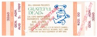 Bill Graham Presents Grateful Dead - Cal Expo Amphitheatre - August 5, 1989