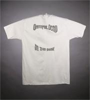 "T-shirt: ""Grateful Dead"" - skull with rose circlet. Back: ""Grateful Dead / In the Dark"""
