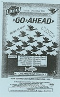 Go Ahead featuring Bill Kreutzmann, Brent Mydland, Alex Ligertwood, David Margen, Jerry Cortez - with Dreamspeak from N.Y. / The Omni, Friday, December 19 [1986]