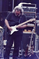 Jerry Garcia, with his black Stratocaster