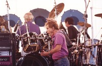 Grateful Dead: Bob Weir, with Bill Kreutzmann and Mickey Hart in the background