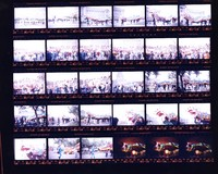 Chinese New Year procession at the Civic Center in San Francisco: contact sheet with 30 images