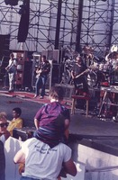 Grateful Dead: Phil Lesh, Bob Weir and Jerry Garcia, with Bill Kreutzmann and Mickey Hart, obscured