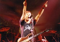 Grateful Dead: Bob Weir, with Bill Kreutzmann and Mickey Hart in the background