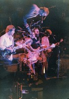Grateful Dead, ca. January 1979: Bob Weir, Jerry Garcia, and Phil Lesh: double exposure