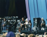 Bob Weir and Jerry Garcia with Traci Chapman and John Fogerty's band, in concert against AIDS