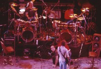"""Grateful Dead So Far"" production: Bill Kreutzmann, Bob Weir, Mickey Hart, with two unidentified crew members"